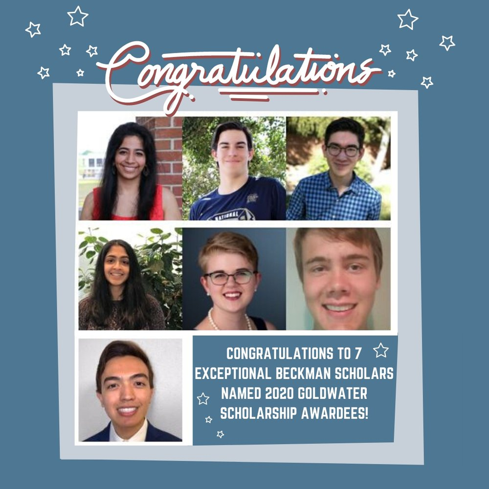 Seven BSPs Named 2020 Goldwater Scholarship Awardees
