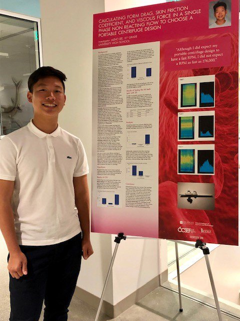 Jaeho Lee from University High Developed a Portable Centrifuge