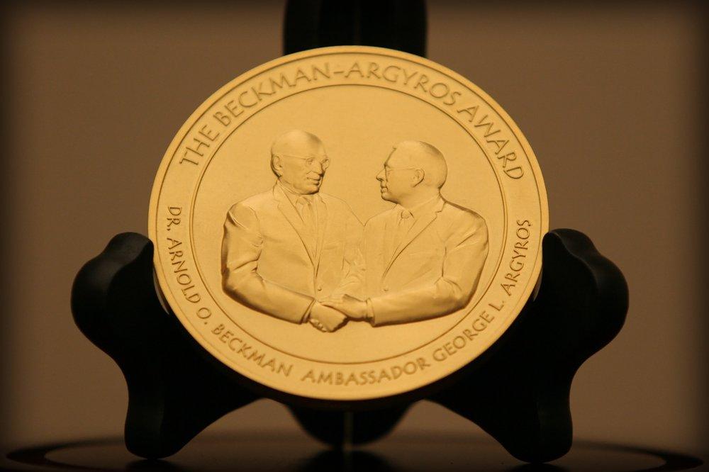 Beckman-Argyros Award Medallion